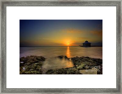 Morning Sun Rising In The Grand Caymans Framed Print by Dan Friend