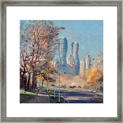 Morning Sunlight In Mississauga Framed Print by Ylli Haruni