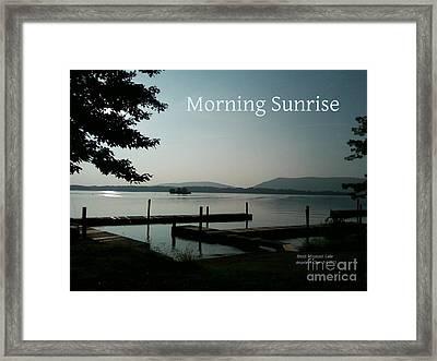Morning Sunrise Framed Print