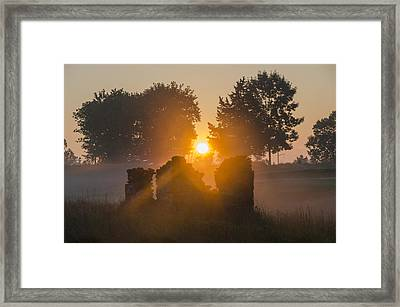 Morning Sunrise At Philadelphia Cricket Club Framed Print