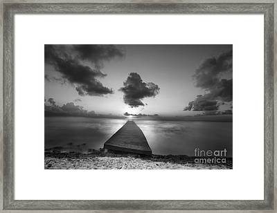 Morning Sunrise By The Dock Framed Print by Dan Friend