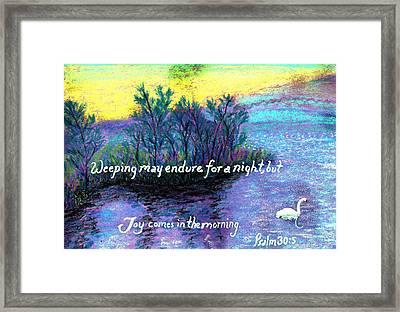 Morning Swan Framed Print by Catherine Saldana