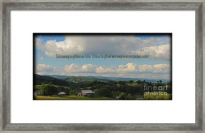 Morning Thanks Framed Print
