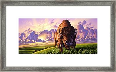 Morning Thunder Framed Print by Jerry LoFaro