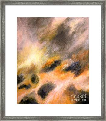 Framed Print featuring the painting Morning Tide by Alison Caltrider