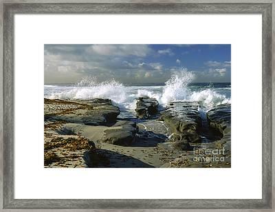 Morning Tide In La Jolla Framed Print by Sandra Bronstein