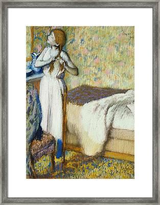 Morning Toilet Framed Print by Edgar Degas