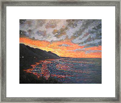 Morning Traffic To Santa Barbara Framed Print