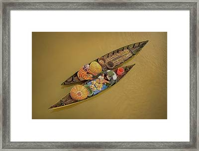 Morning Transaction Framed Print
