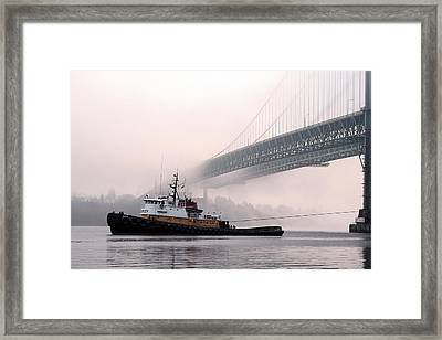 Framed Print featuring the photograph Morning Tug by Matthew Ahola