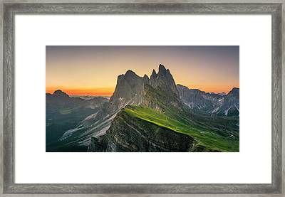 Morning Twilight At Secede, Italy Framed Print by Chalermkiat Seedokmai