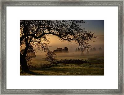 Morning Valley Fog Framed Print by Don Powers