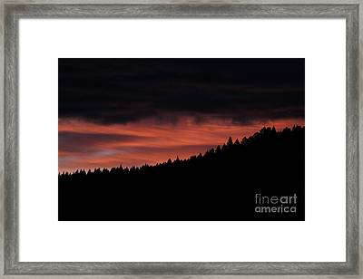 Framed Print featuring the photograph Morning View by Ann E Robson