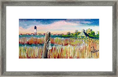 Morning View In South Port Looking At Oak Island Framed Print