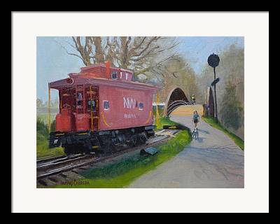 Old Caboose Paintings Framed Prints