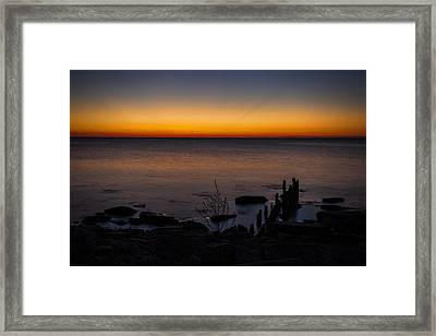 Morning Water Colors Framed Print by CJ Schmit