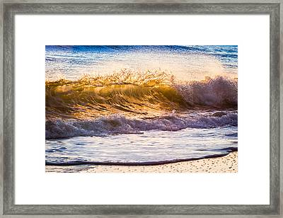 Morning Wave Framed Print by Rob Travis
