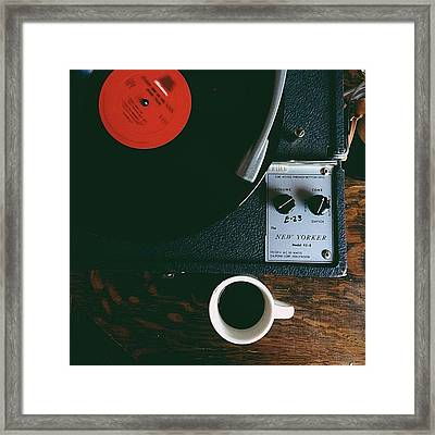 Morning With Coffee And Jazz Framed Print