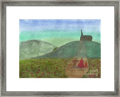 Morning Worship Framed Print by Tracey Williams