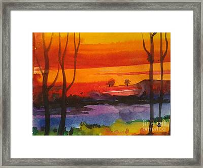 morning X Framed Print