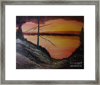 Framed Print featuring the painting Morning Yes by Stuart Engel