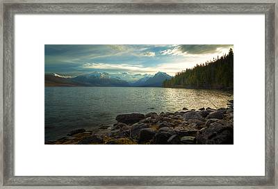 Mornings At Lake Mcdonald Framed Print by Stuart Deacon