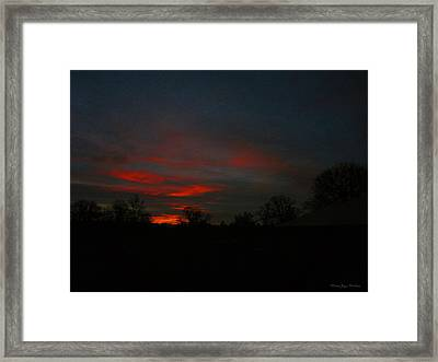 Mornings Early Light 012913 Framed Print by Joyce Dickens