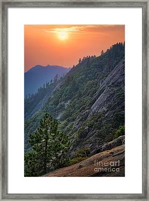 Moro Sunset Framed Print