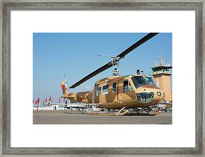 Moroccan Air Force Ab205a-1 Helicopter Framed Print