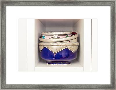 Moroccan Bowls Framed Print by Tom Gowanlock