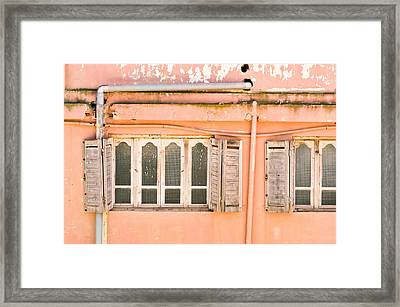 Moroccan Building Framed Print by Tom Gowanlock