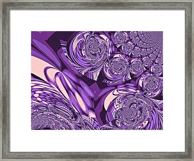 Moroccan Lights - Purple Framed Print