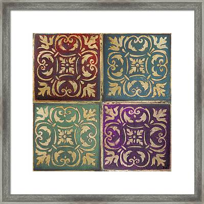 Moroccan Mosaic Patch I Framed Print