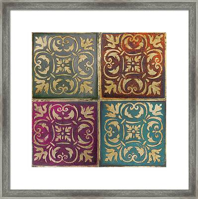 Moroccan Mosaic Patch II Framed Print