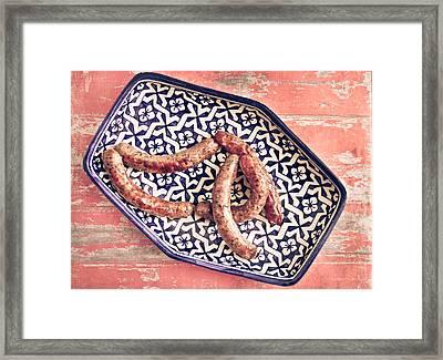 Moroccan Sausages Framed Print