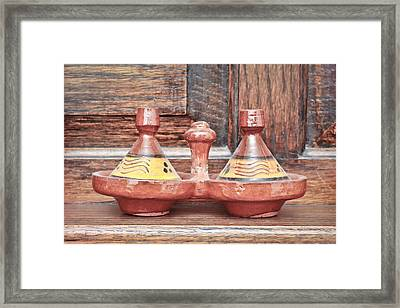 Moroccan Tagine Framed Print by Tom Gowanlock