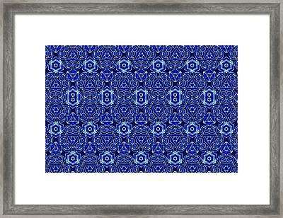 Moroccan Textile Pattern Framed Print by Hakon Soreide