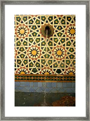 Moroccan Water Fountain Framed Print by Ralph A  Ledergerber-Photography