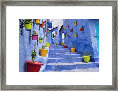Morocco, Chefchaouen Or Chaouen Is Most Framed Print