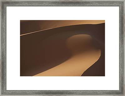 Morocco, Detail Of Sand Dunes In Erg Framed Print by Ian Cumming