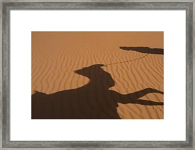 Morocco, Erg Chebbi Area Sahara Desert Framed Print by Ian Cumming