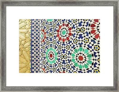 Morocco, Fes Fes, Jdid (royal Fes Framed Print by Walter Bibikow