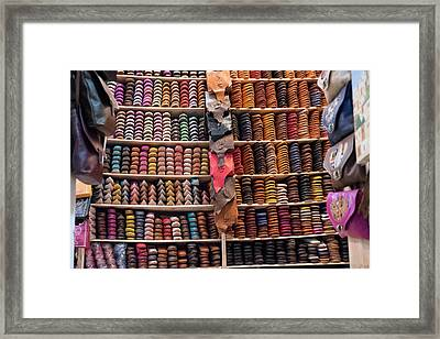 Morocco, Fez Tannery Framed Print by Emily Wilson