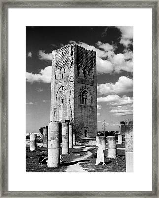 Morocco Hassan Tower Framed Print by Granger