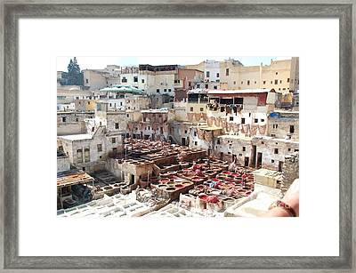 Morocco Learn Color Work Fez Leather Learning Framed Print