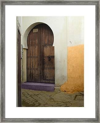 Morocco Old City Casablanca Framed Print by Ali ArtDesign