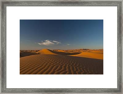 Morocco, Sand Dune At Dusk Framed Print by Ian Cumming