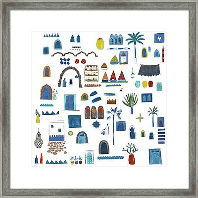 Morocco Sketch Framed Print by Nic Squirrell