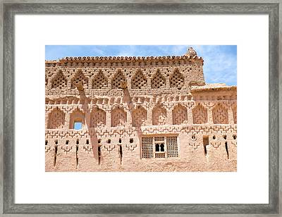 Morocco, Southern Morocco, Mud Walls Framed Print by Emily Wilson