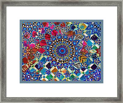 Moroccon Abstract Explosion-1 Framed Print